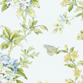 Waverly Cottage Fawn Hill Wallpaper Blue-Pearl ER8216