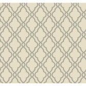 WA7709-WAVERLY CLASSICS  HAMPTON TRELLIS  WALLPAPER-Palest Taupe-Steel Gray