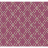 WA7710-WAVERLY CLASSICS  HAMPTON TRELLIS  WALLPAPER-Grape-Taupe