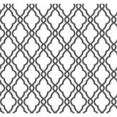 WA7716-WAVERLY CLASSICS  HAMPTON TRELLIS  WALLPAPER-Ebony-Ivory