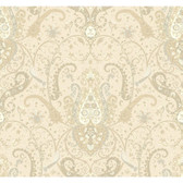 WA7720-WAVERLY CLASSICS  BYZANCE WALLPAPER-Cream-Beige-Taupe-Gray