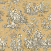 WA7832-WAVERLY CLASSICS  COUNTRY LIFE WALLPAPER-Caramel-Cream-Black