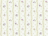 Keepsake Floral Toss Stripe Purple-Green Wallpaper GP7281
