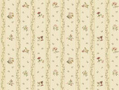 Keepsake Floral Toss Stripe Purple-Linen Wallpaper GP7282
