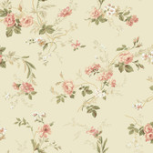 Keepsake Small Floral Trail Pink-Linen Wallpaper GP7354