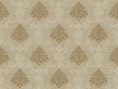 Keepsake Document Damask Brown Wallpaper GP7365