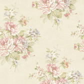Nantucket Bouquet Rose Wallpaper NK2028