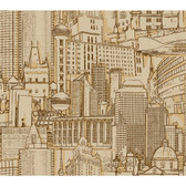 Risky Business II Great Expectations Wallpaper RB4212 -Brown-Gold