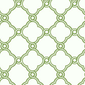 Silhouettes Fretwork Trellis Emerald Wallpaper AP7484