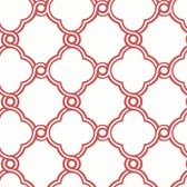 Silhouettes Fretwork Trellis Berry Wallpaper AP7485