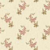 Rhapsody Floral Trail Wallpaper-VR3412 -gold cloth- cranberry- blush pink- white- lichen green- honey