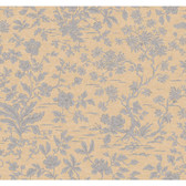 Regents Glen Asian Floral Wallpaper-PP5718-Taupe-Pearled Silver