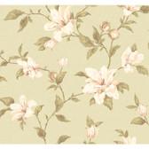 Regents Glen My Magnolia Wallpaper-PP5742-Light Sage Green-White-pretty Pink