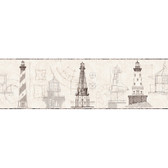 AM8651BD - American Classics Architectural Lighthouse Cream-Grey Border Pattern