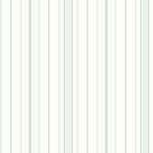 Blue Book Wide Pinstripe Wallpaper SA9114 - White and Blue