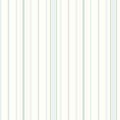 Blue Book Wide Pinstripe Wallpaper SA9114 - White and Blue