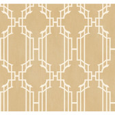 Orange & Yellow Book Trellis With Stripe Wallpaper AD8194-Shimmering Champagne-White