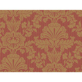 Red Book Shell Damask Wallpaper 922554-Deep Red-Gold