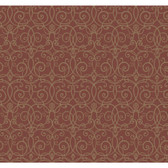 Red Book Trellis Scroll Wallpaper SS1333 -Red-Gold Metallic