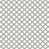 AB2156 - Ashford House Black & White Geometric Trellis Black-White Wallpaper