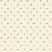 AB2165 - Ashford House Black & White Ribbon Harlequin Cream Wallpaper