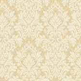 Texture Graystone Estate Raised Layered Damask HD6927 Gold-Cream Wallpaper