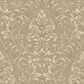 Texture Graystone Estate Feathered Damask HD6950 Taupe-Cream Wallpaper