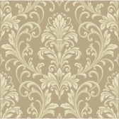 Texture Graystone Estate Feathered Damask HD6952 Beige-Cream Wallpaper