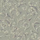 Texture Graystone Estate Grand Hunt Scroll HD6964 Fossil Grey Wallpaper