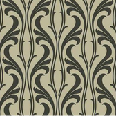 Candice Olson Luxury Finishes COD0333N Fanciful Cream-Black Wallpaper