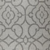 DE8824-Shimmering Details Grillwork Mica Silver-Grey Wallpaper