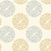 DE8865 - Candice Olson Shimmering Details Duo Gold-Grey Wallpaper