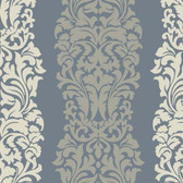 DN3803 - Candice Olson Modern Luxe Blue Harmony Striped Wallpaper