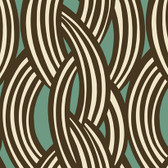 Brown GM1228 Braid Pattern Wallpaper