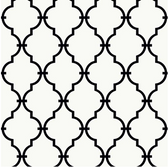 Ashford House Black & White - YS9100 Modern Trellis Wallpaper