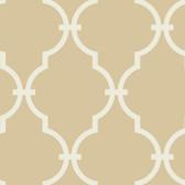 Beige GM1273 Curvilinear Faux Ironworks Wallpaper
