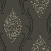 Grey NA0236 Cluster of Flowers Wallpaper