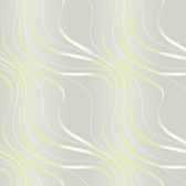 Ash Grey NA0241 Tonal Flowing Lines Wallpaper