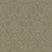 Grey NA0268 Damask Floral Insignia Wallpaper