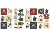Border Book Coffee House Appliques RMK1254SCS