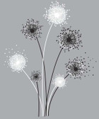 Border Book Graphic Dandelion Giant Decal - RMK1775GM