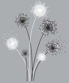 Border Book Graphic Dandelion Giant Decal - RMK1775GM