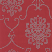 DL30441- Accents Suzette Red Modern Damask Wallpaper