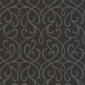 DL30448 - Accents Alouette Charcoal Mod Swirl Wallpaper