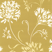 DL30452 - Accents Nerida Light Green Floral Silhouette Wallpaper