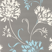 DL30458 - Accents Nerida Light Grey Floral Silhouette Wallpaper