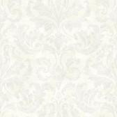 Arbor Rose Finley Regal Damask Snow Wallpaper ARB67543