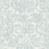 Arbor Rose Finley Regal Damask Spruce Wallpaper ARB67545