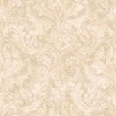 Arbor Rose Finley Regal Damask Tan Wallpaper ARB67547