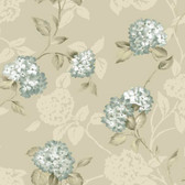 Arbor Rose Floral Trail Sapphire Wallpaper ARB67556